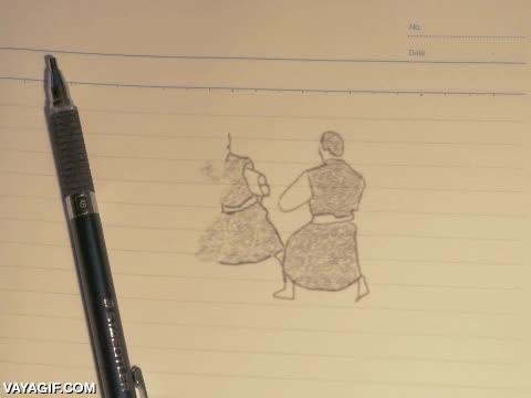 Enlace a Lo que se puede hacer con un lápiz, una hoja de papel, paciencia y mucho arte
