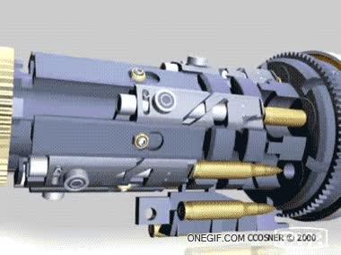 Enlace a Así es el mecanismo de disparo de una ametralladora Gatling