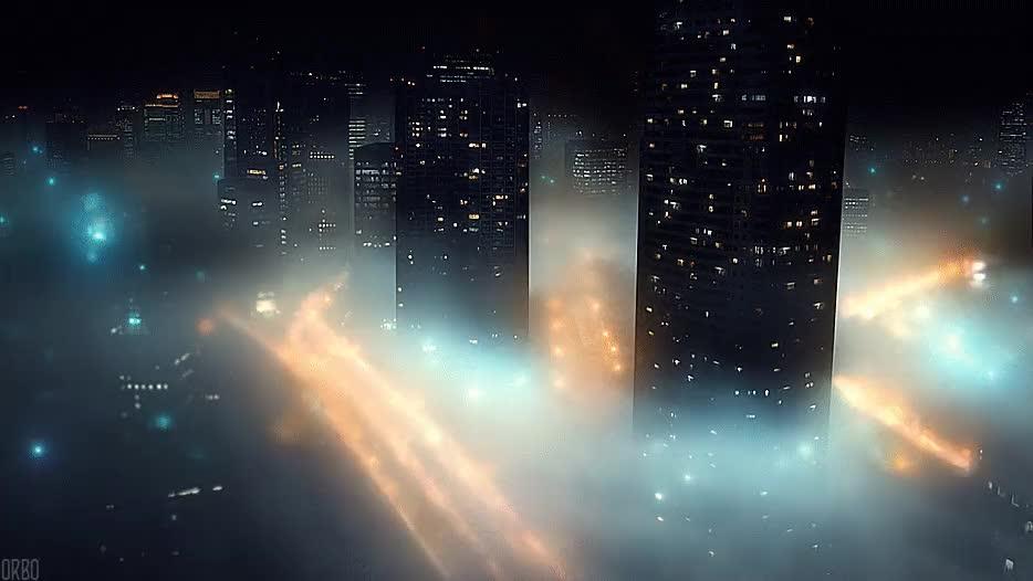 Enlace a La típica niebla nocturna en la ciudad de Tokyo