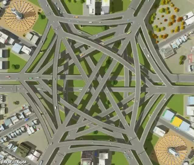 Enlace a Viendo esta intersección de 6 carriles totalmente conectada, no me parece tan mala idea las rotondas