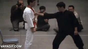 Enlace a Si Bruce Lee era capaz de lanzarte así con un puñetazo de cerca, no quiero imaginar con carrerilla