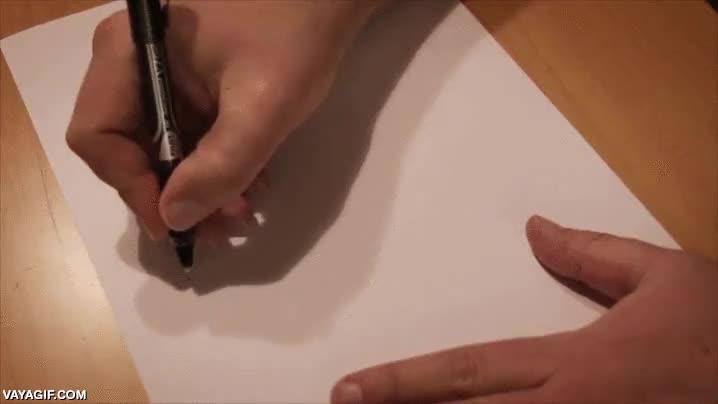 Enlace a Dibujando un círculo perfecto a mano, yo sería incapaz