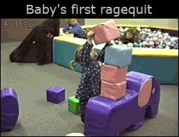 Enlace a El primer ''ragequit'' de esta niña, cuando la frustración se convierte en rabia