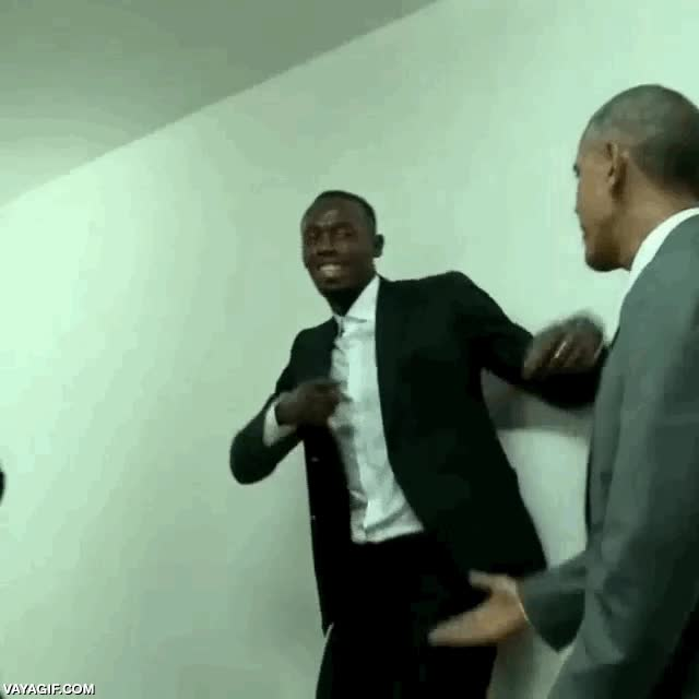 Enlace a Obama y Ussain Bolt, brothas from another motha