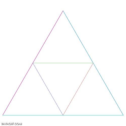 Enlace a Triángulos exponenciales, ¿quién decía que la geometría no podía ser fascinante?