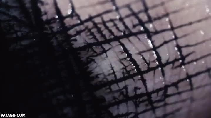 Enlace a Tinta fluyendo a través de la piel de un dedo