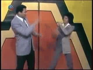 Enlace a Muhammad Ali y Michael Jackson ''intercambiando un par de golpes''