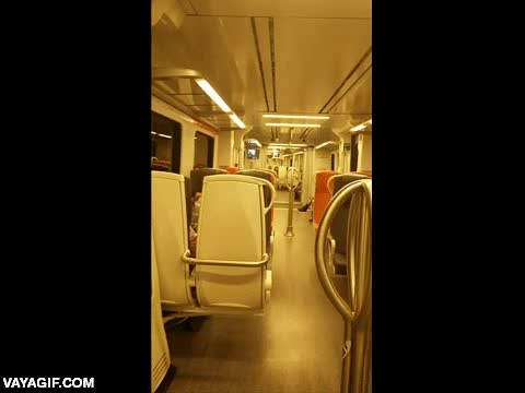 Enlace a El movimiento de un tren tomando una curva visto desde dentro
