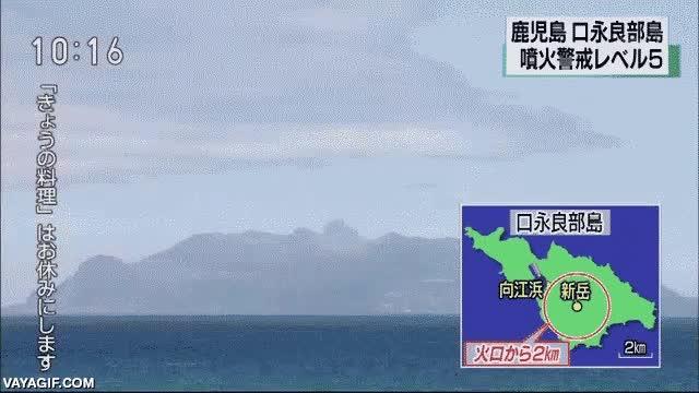 Enlace a Así erupcionó el Monte Shindake en Japón