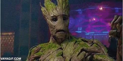 Enlace a La mirada lo dice todo, a Groot no le gusta