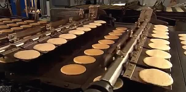 Enlace a Esta máquina es capaz de procesar 36 pancakes cada 4 segundos