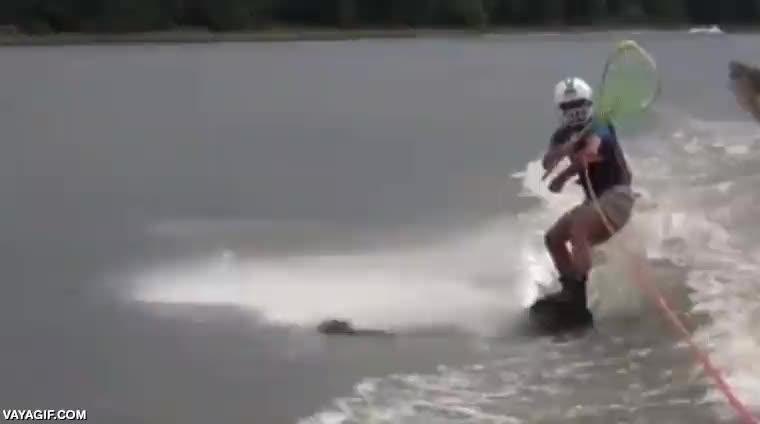 Enlace a Este tío tiene un talento especial para pescar