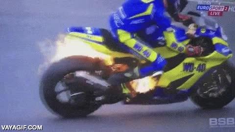 Enlace a Con la moto más ''on fire'' del campeonato