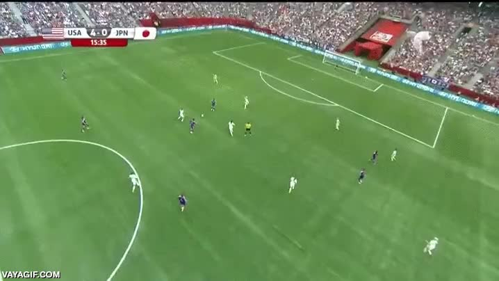 Enlace a Carli Lloyd marcó este golazo desde medio campo en la final del mundial femenino de fútbol