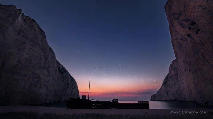 Enlace a Un precioso time lapse del cielo de la isla griega Zakynthos