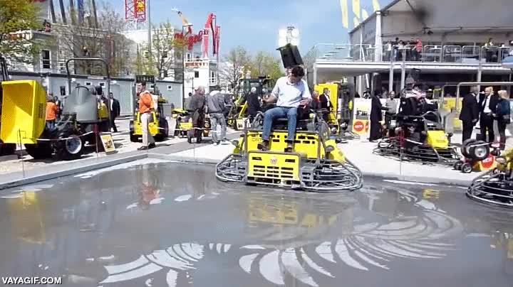 Enlace a Skate volador todavía no, pero la alisadora hovercraft de hormigón ya es una realidad
