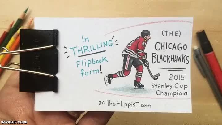Enlace a Resumen de una final de hockey sobre hielo animado con un flipbook