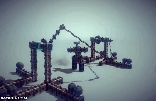 Enlace a La magia del videojuego Besiege en el que construir armas de asedio a castillos
