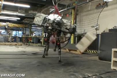 Enlace a Prototipo de robot trabajador de aeropuerto cargando maletas de los turistas
