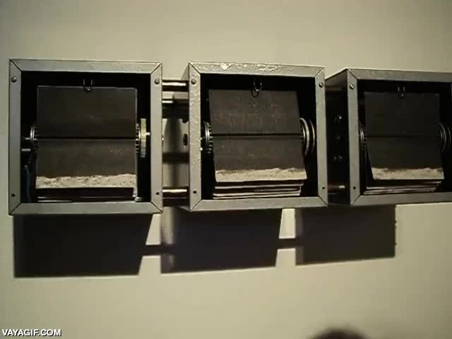 Enlace a Un flipbook mecánico, de museo