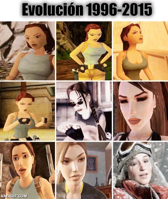 Enlace a Evolución de Lara Croft