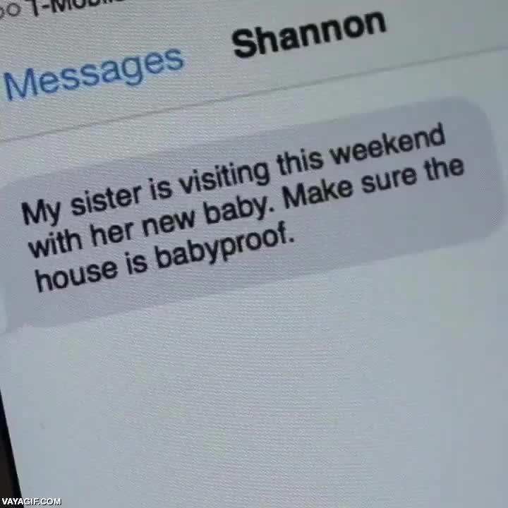 Enlace a Cariño, vendrá mi hermana con su hijo, asegúrate que la casa está a prueba de bebés