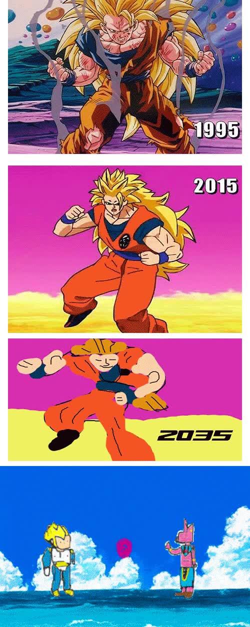 Enlace a Evolución gráfica de Dragon Ball