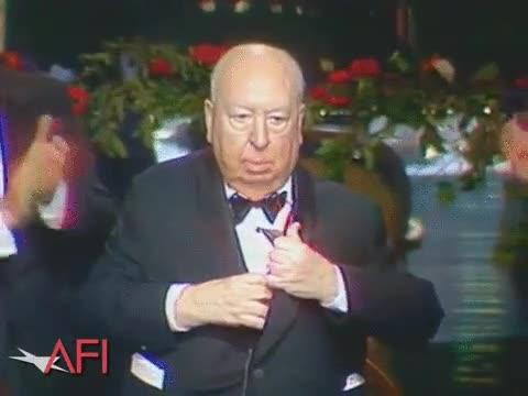 Enlace a Alfred Hitchcock se lleva disimuladamente el premio AFI en 1979