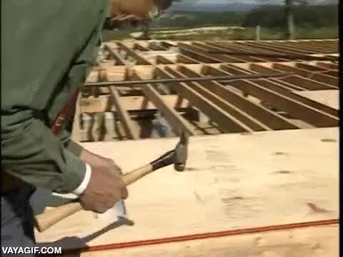 Enlace a Se podría decir que este carpintero siempre la clava