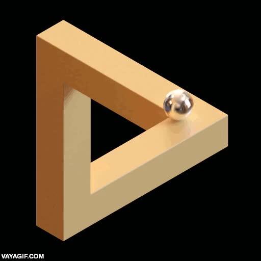 Enlace a Rodando por un triángulo de Penrose