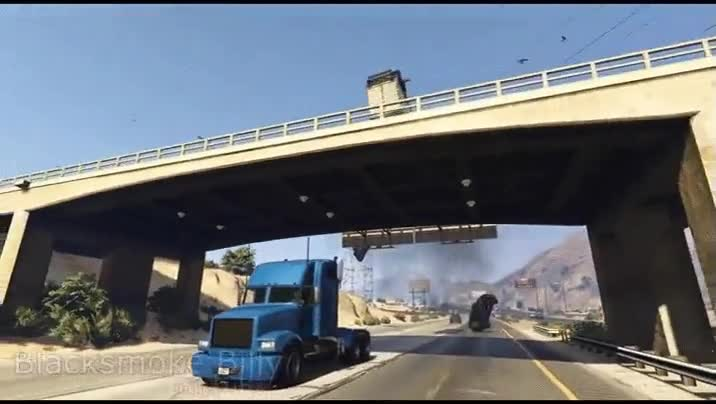 Enlace a Probablemente el truco más increíble jamás realizado sobre un camión en un videojuego