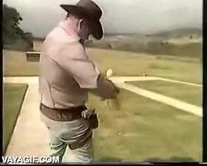 Enlace a ¿El revólver más rápido del oeste? Difícil que alguno lo sea más que este