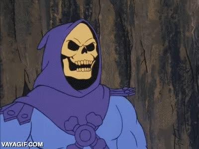 Enlace a Skeletor sí que sabía salir de los sitios con clase