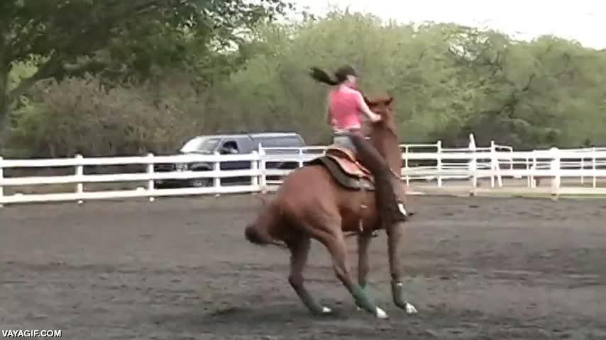 Enlace a Lidiando con un caballo desbocado como la mejor de las amazonas