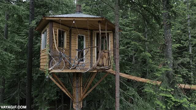 Enlace a Iba a montar un ascensor con cabina para subir y bajar de mi casa en el árbol, pero teniendo esto...