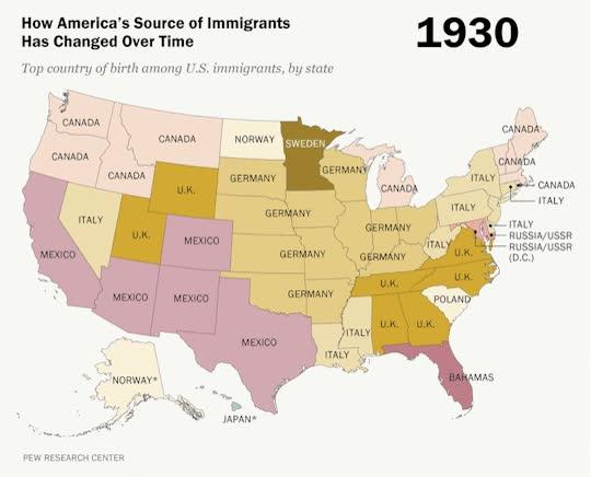 Enlace a Así ha cambiado el origen de la inmigración en Estados Unidos en las últimas décadas