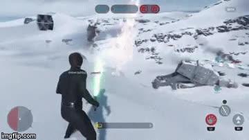Enlace a Si no te quedan balas para usar contra los Tie Fighters, usa Stormtroopres