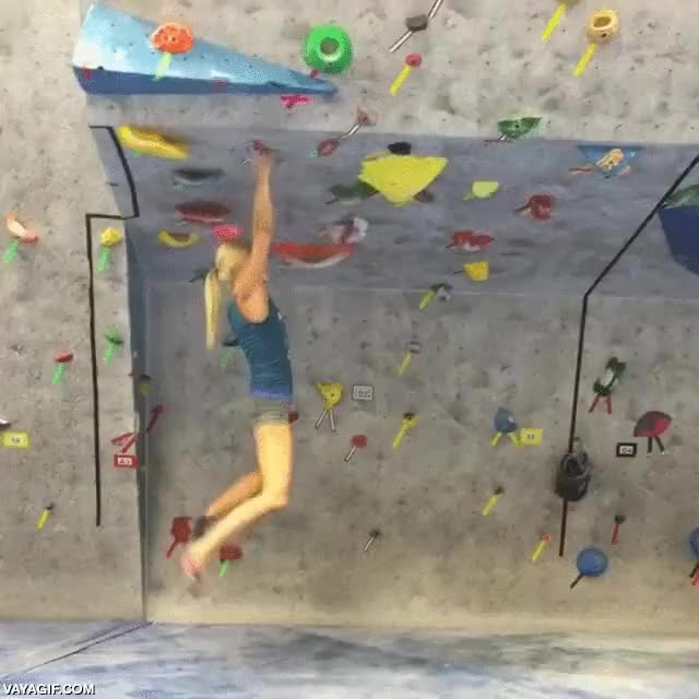 chica,escalar,habilidad,mucha tecnica,pared,rocodromo,trepar
