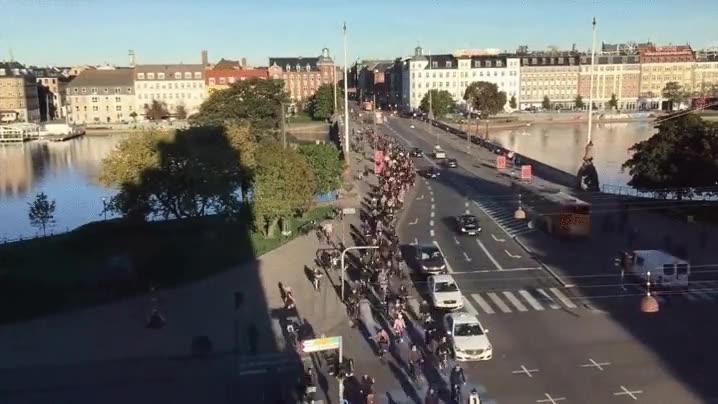 Enlace a Así es la hora punta en Copenhagen