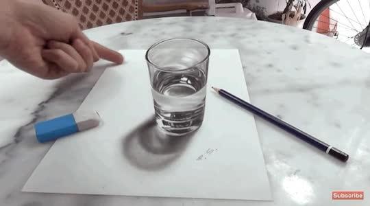 Enlace a Magia artística hecha con un lápiz