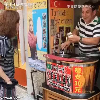 Enlace a Cuando te hartas de las tonterías de los vendedores de helados turcos