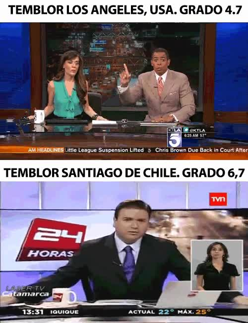 Enlace a California vs Chile, algunos se toman los terremotos con más normalidad que otros