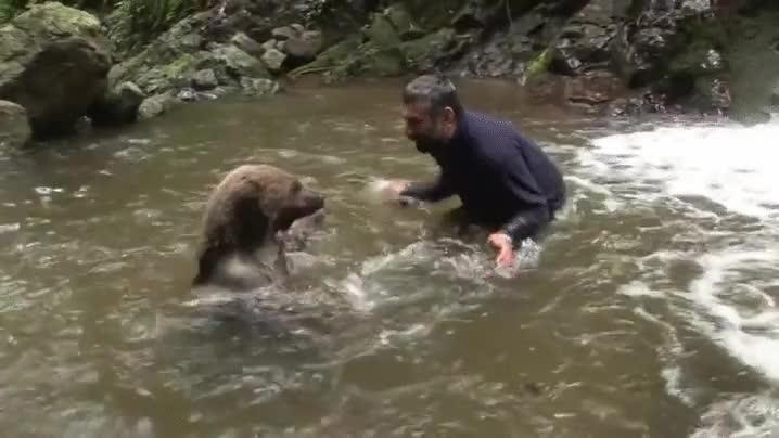 Enlace a Una guerra de agua con su pequeño y peligroso amigo