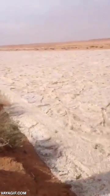 Enlace a Un río de arena en mitad del desierto, WTF?