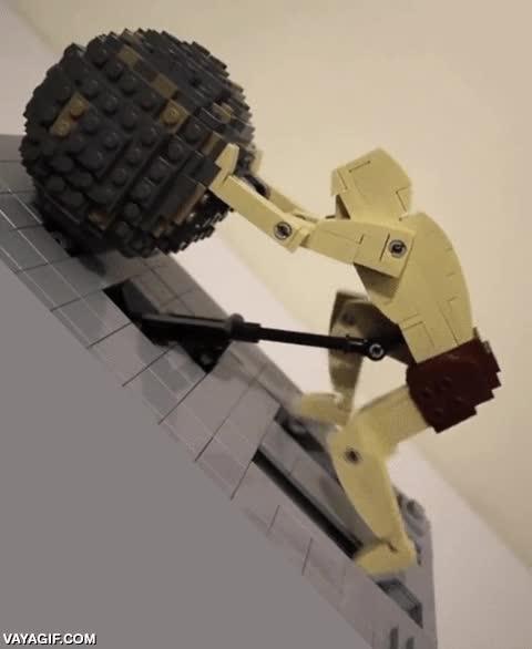 Enlace a El Sísifo más real que he visto hasta ahora, hecho con Lego