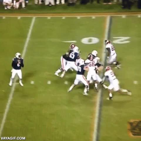Enlace a Curiosa manera de acabar recibiendo un pase en fútbol americano y anotar un touchdown