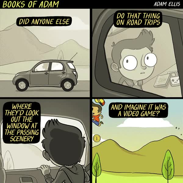 Enlace a ¿Soy el único que de niño en el coche, miraba por la ventana y se imaginaba un videojuego?