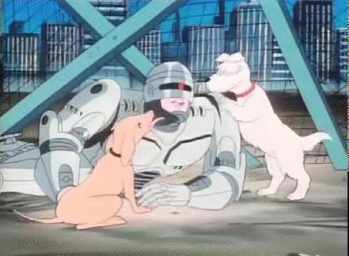 Enlace a Robocop, el amigo de los perros. Desde luego los dibujos de antes era otra cosa...