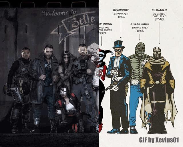 Enlace a Suicide Squad antes y ahora