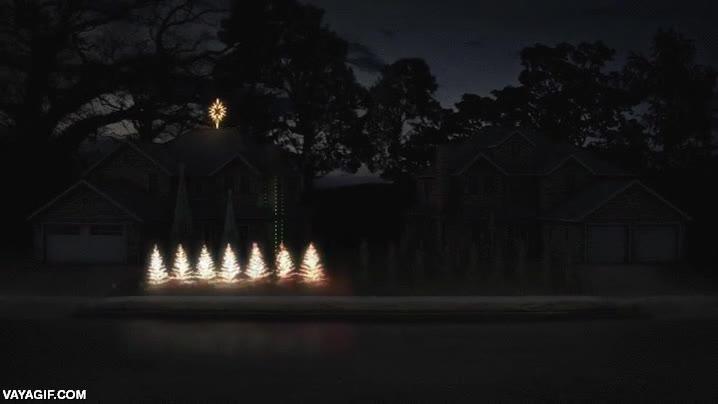 Enlace a Creo que estos dos vecinos se han pasado el juego de decorar sus casas para Navidad